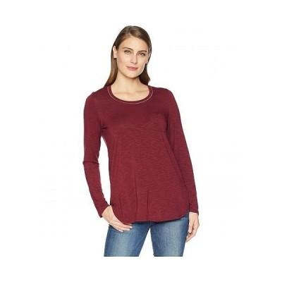 Tribal トリバル レディース 女性用 ファッション Tシャツ Long Sleeve Top with Chest Pocket - Zinfandel