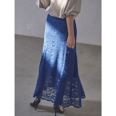 アニュアンス anuans レースマーメードスカート (BLUE)