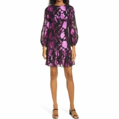 ミリー MILLY レディース ワンピース シフトドレス ワンピース・ドレス Metallic Floral Organza Shift Dress Black/Pink