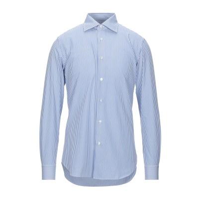 カルーゾ CARUSO シャツ ブルー 40 コットン 100% シャツ