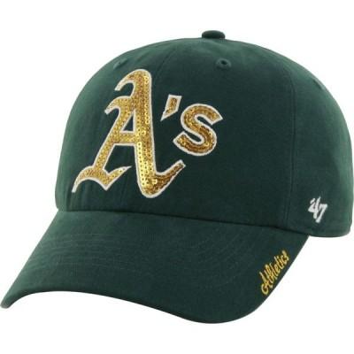 フォーティセブン 47 レディース キャップ 帽子 ' Oakland Athletics Sparkle Green Adjustable Hat