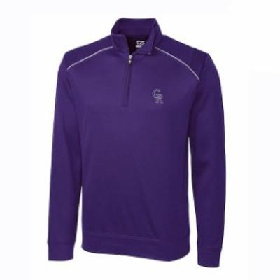 Cutter & Buck カッター アンド バック スポーツ用品  Cutter & Buck Colorado Rockies Purple Ridge WeatherTec Half-Zip Pullover Jack