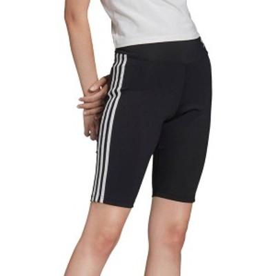 アディダス レディース ハーフパンツ・ショーツ ボトムス adidas Women's Originals 3-Stripe Bike Shorts Black/White