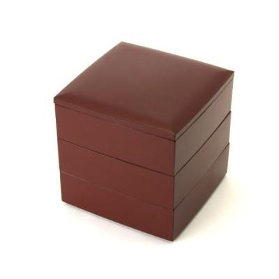 5寸 三段 重箱 手塗うるし(朱) 大型 弁当箱 おしゃれ 3段 お重箱 かわいい おせち 正月 花見