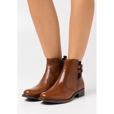 アンナフィールド ブーツ&レインブーツ レディース シューズ LEATHER - Classic ankle boots - cognac