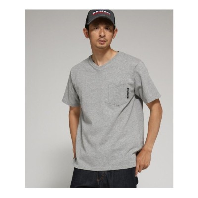 ベース コントロール BASE CONTROL Tシャツ メンズ Vネック WEB限定 (グレー)