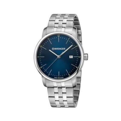 腕時計 ウェンガー Wenger 01.1741.123 Men's Urban Classic Swiss Blue Dial Watch