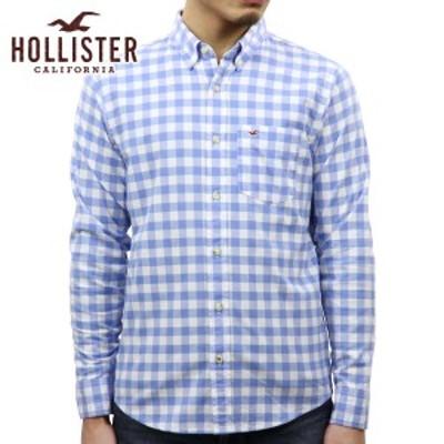 ホリスター シャツ メンズ 正規品 HOLLISTER 長袖シャツ ボタンダウンシャツ  Stretch Poplin Shirt Epic Flex 325-259-1772-219