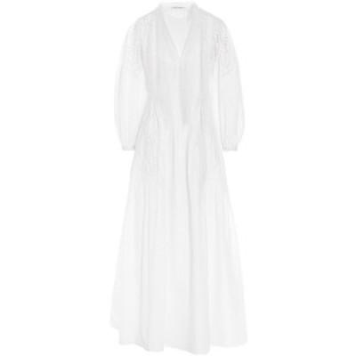 ALBERTA FERRETTI/アルベルタ フェレッティ White Sangallo lace long dress レディース 春夏2021 A540201390001 ju