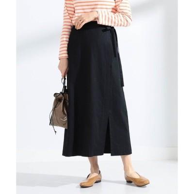 スカート Ray BEAMS / 綿麻 ラップ ロングスカート