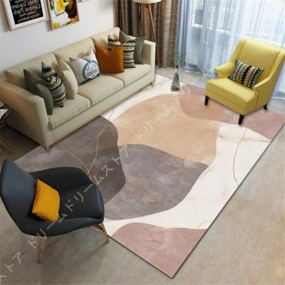 ラグ リビング 居間 マット 洗える 北欧 ラグマット 低反発 長方形 1畳 2畳 滑り止め付 カーペット 折り畳み可能 L- 大きい オールシーズン 適用 床暖房