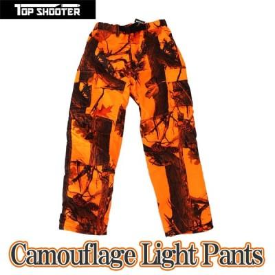 期間限定 特別価格 トップシューター ライトウェイト オレンジ迷彩 パンツ 2XLサイズ  軽量 薄型 防水 防風 狩猟 サバゲー