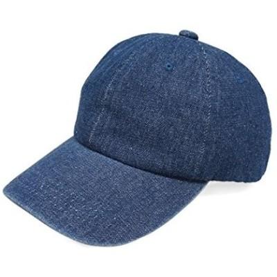 Keys キーズ キャップ 帽子 メンズ レディース デニム ウォッシュ加工 大きい ベースボールキャップ