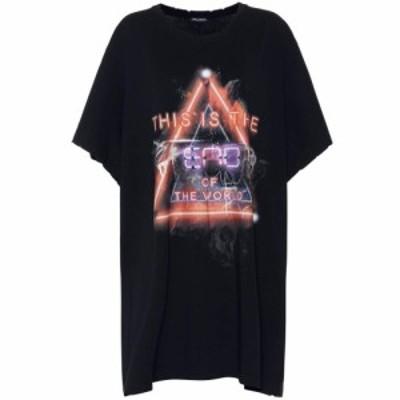 バルマン Balmain レディース Tシャツ トップス Printed cotton T-shirt
