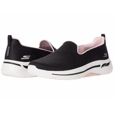 スケッチャーズ レディース スニーカー シューズ Go Walk Arch Fit Black/Pink