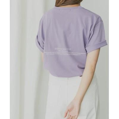 (KBF/ケービーエフ)KBF+ MRバックプリントTシャツ/レディース PURPLE