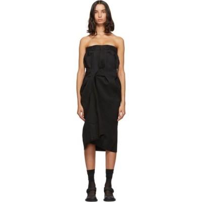 メゾン マルジェラ Maison Margiela レディース ワンピース ワンピース・ドレス Black Cavalry Twill Dress Black