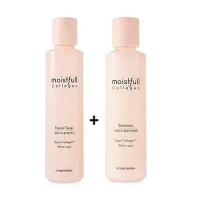 ETUDE HOUSE エチュードハウス MOISTFULL COLLAGEN 水分いっぱいコラーゲンモイスト化粧水 + 乳液