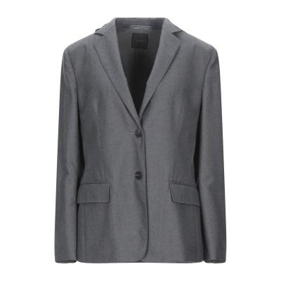 アニオナ AGNONA テーラードジャケット グレー 46 ウール 100% テーラードジャケット