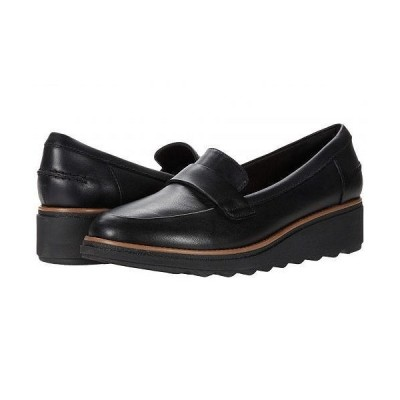 Clarks クラークス レディース 女性用 シューズ 靴 ローファー ボートシューズ Sharon Gracie - Black Leather