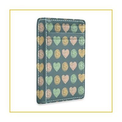 【☆送料無料☆新品・未使用品☆】Cute Colorful Pink And Orange Hearts Love Credit Card Holders Wallet Womens Mens Gift Card C