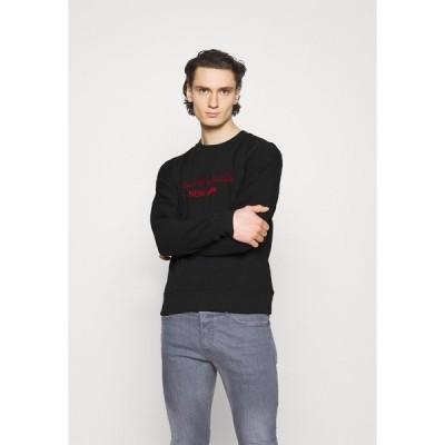 カルバンクライン パーカー・スウェットシャツ メンズ アウター TONE ON TONE - Sweatshirt - black