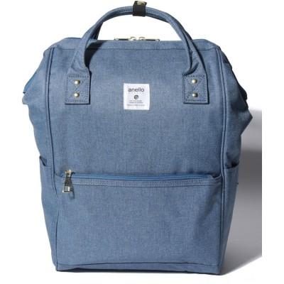 【ラプラスボックス】  クラシック杢調ポリエステル 口金リュックRegular ユニセックス ブルー F Laplace box