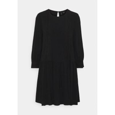 ヴェロモーダ レディース ワンピース トップス VMGIDGET 3/4 SHORT DRESS  - Day dress - black black