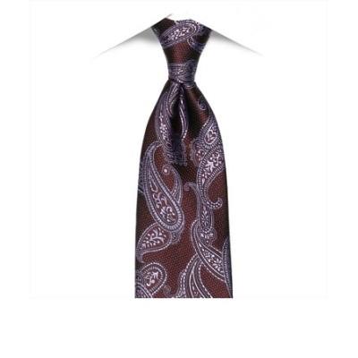 ネクタイ / ビジネス / フォーマル / 日本製ネクタイ 絹100% エンジ系 ペイズリー柄