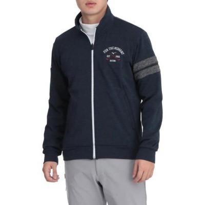 ストレッチフリースフルジップミドラーシャツ(メンズ) MIZUNO ミズノ ゴルフ ウエア 長袖シャツ (52MC0541)