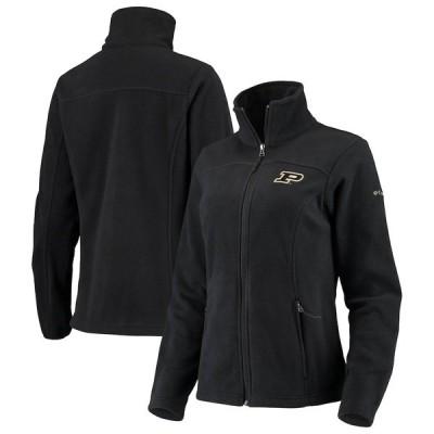 コロンビア ジャケット・ブルゾン アウター レディース Purdue Boilermakers Columbia Women's Give & Go II Fleece Full-Zip Jacket Black