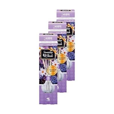 まとめ買いサワデー香るスティック日比谷花壇セレクト 消臭芳香剤 詰め替え用 アロマティックフローラル 70ml×3個