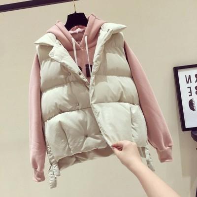 中綿ベストレディースベスト秋冬ベスト防寒コート中綿コート羽織り物秋冬定番大きいサイズ