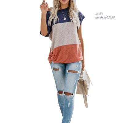 夏 半袖 T シャツ 女性 ラウンド カラー 3 色パッチワーク Tシャツ トップス WDC2 160 グループ上 レディ ー ス 衣服 から Tシャツ 中