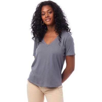 オルタナティヴ Alternative レディース Tシャツ Vネック トップス Organic Cotton V-Neck Tee Earth Ocean