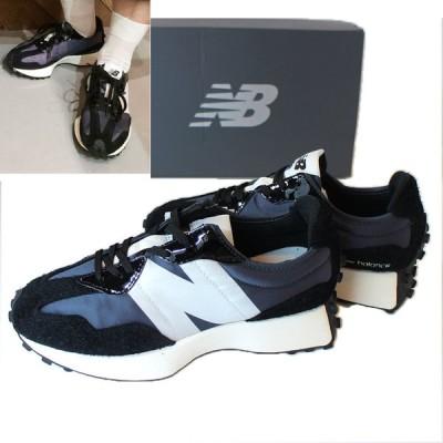 New Balance WS327SFC ビッグロゴ ブラック×スエード 黒