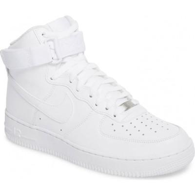 ナイキ NIKE メンズ スニーカー ハイカット エアフォースワン シューズ・靴 Air Force 1 High '07 Sneaker White/White