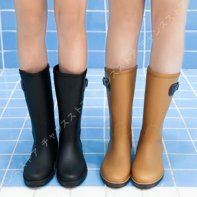 ベルト付き ウエスタンブーツ レインブーツ ロング おしゃれ アウトドア ジョッキー ブーツ レディース 雨靴 長靴 防水 梅雨 完全防水 乗馬ブーツ 女性