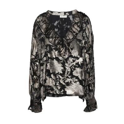 MASSCOB ブラウス ファッション  レディースファッション  トップス  シャツ、ブラウス  長袖 ブラック