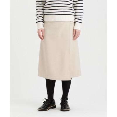 スカート ウールラップスカート
