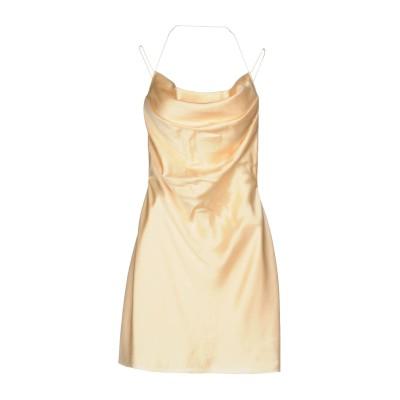 SAINT LAURENT ミニワンピース&ドレス あんず色 40 100% シルク ミニワンピース&ドレス