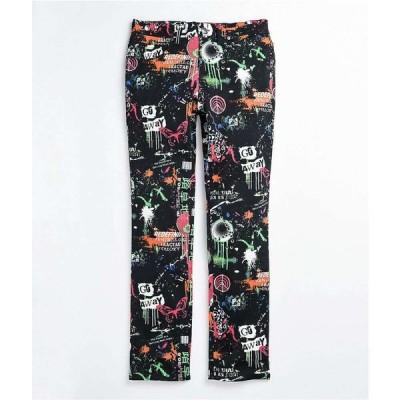 VITRIOL メンズ ボトムス・パンツ deface printed black twill pants Assorted