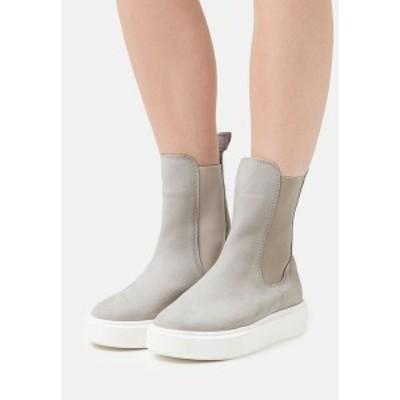 タマリス レディース ブーツ&レインブーツ シューズ Platform ankle boots - soft grey soft grey