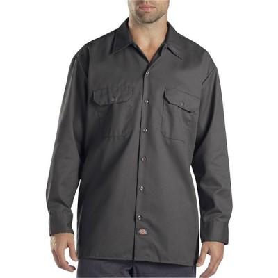 Dickies(ディッキーズ)長袖 ワークシャツ Long Sleeve Work Shirt Charcoal US企画(574)スケボー SKATE SK8 スケートボード HARD CORE PUNK パンク HIPHOP