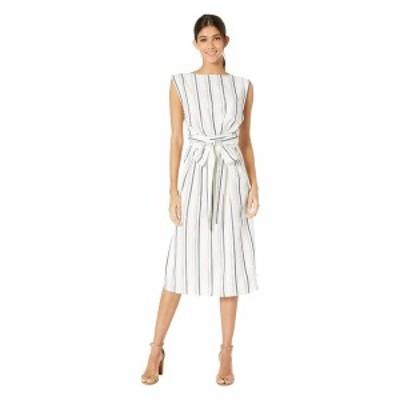 カップケーキアンドカシミア レディース ワンピース トップス Aprea Stripe Wrap Midi Dress Ivory