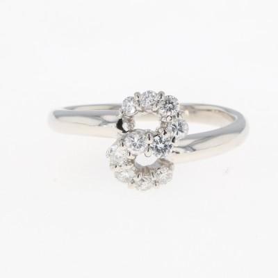 メレダイヤ デザインリング プラチナ 指輪 リング 12号 Pt900 ダイヤモンド レディース 中古
