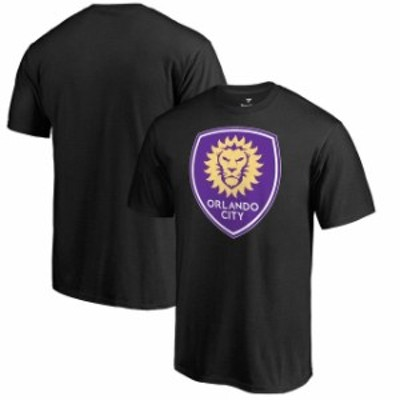 Fanatics Branded ファナティクス ブランド スポーツ用品  Fanatics Branded Orlando City SC Black Big & Tall Primary Logo T-Shirt