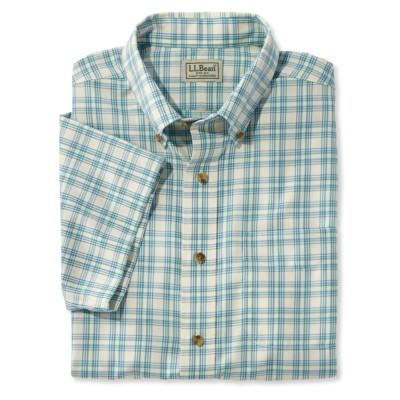 リンクルフリー(形態安定)・ツイル・スポーツ・シャツ、半袖 プラッド