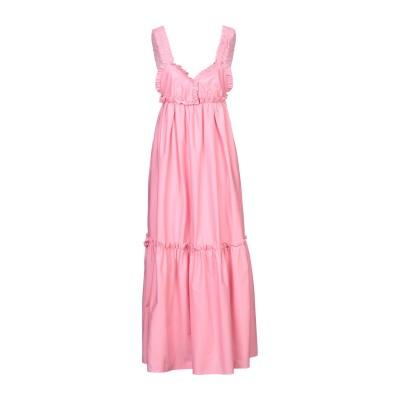 KI6? WHO ARE YOU? ロングワンピース&ドレス ピンク 44 コットン 97% / ポリウレタン 3% ロングワンピース&ドレス