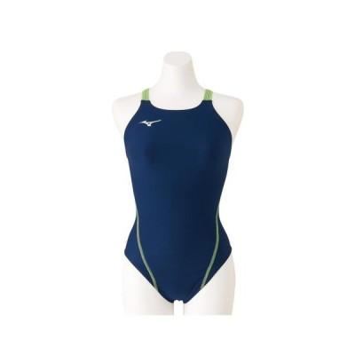 ミズノ(MIZUNO) 競泳水着 レディース 水泳 競泳練習用ミディアムカット N2MA826184 (レディース)